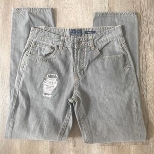 Lucky Brand Cooper Slim Gray Distressed Boys Jeans